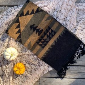 Aztec Printed Fall Scarf